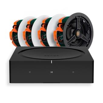 Sonos Amp + 4 x Monitor Audio C165 In-Ceiling Speakers