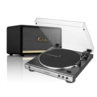 Audio-Technica AT-LP60XUSB & Marshall Stanmore II Turntable Bundle