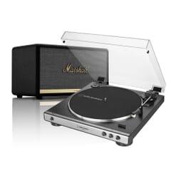 Audio-Technica AT-LP60XUSB & Marshall Stanmore II Turntable Bundle