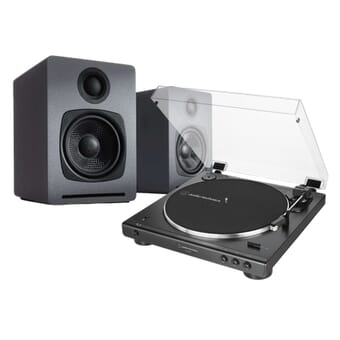 Audio-Technica AT-LP60XBT + Audioengine A1 Wireless Speakers