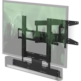 "Flexson 65"" Cantilever Mount for TV and Sonos Beam and Playbar"