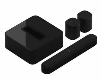 Sonos Beam + SUB (Gen 3) + 2 x Sonos One SL