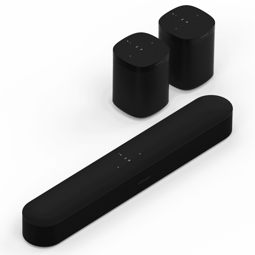 Black Sonos Two Room Set with Beam and One