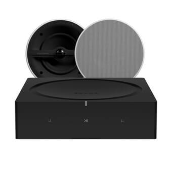 Sonos AMP + 2 x Bowers & Wilkins CCM 382 In-Ceiling speakers