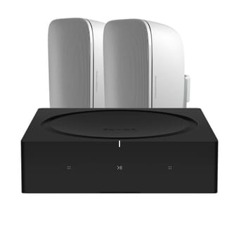 Sonos AMP + 2 x Bowers & Wilkins AM-1 outdoor speakers