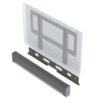 Flexson Flat to Wall Mount for TV & Sonos PLAYBAR